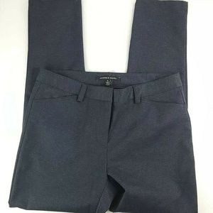 ANDREW MARC Stretch Navy Blue Knit Tapered Pants
